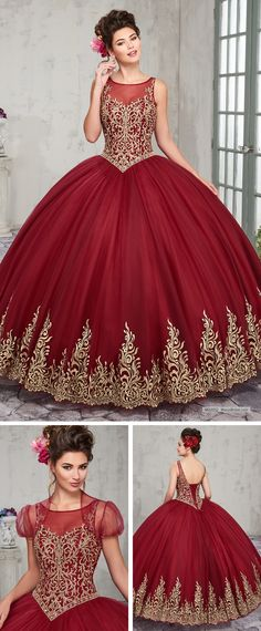 37283e46e91 MQ2012 Tulle quinceanera ball gown with bateau neck line