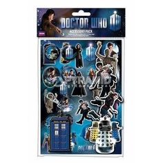 Doctor Who Accessory Pack (Stickers, Badges, Keyring)