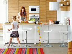 Cuisine am ricaine optez pour un espace de vie convivial - Ouverture cuisine sur salon ...