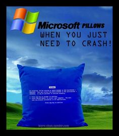 Microsoft Pillows – For When You Just Need to Crash