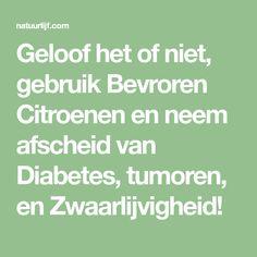 Geloof het of niet, gebruik Bevroren Citroenen en neem afscheid van Diabetes, tumoren, en Zwaarlijvigheid!