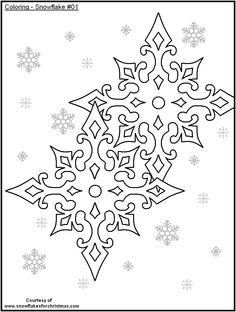 FREE Printable Snowflakes to Color