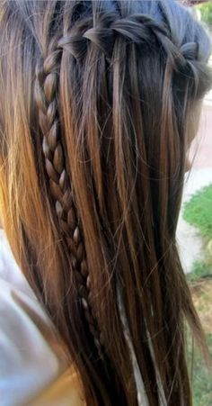 long hair styles for women. Must try the waterfall braid.