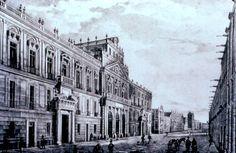 El Palacio de Minería en una litografía decimonónica de Pedro Gualdí (1808-1857)