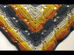 (#43 Destro) Xale Borboletas Tunisian Crochet, Crochet Poncho, Crochet Top, Knitting, Youtube, Crafts, Women, Fashion, Crochet Poncho Patterns