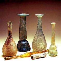 Frascos de vidrio para perfumes y productos cosméticos