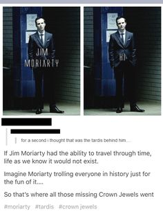 I'm writing a Wholock Fanfic, where Moriarty steals the TARDIS and Sherlock and John help the Doctor.which Doctor should I put in the story? Sherlock Fandom, Sherlock Bbc, Jim Moriarty, Watson Sherlock, Sherlock Quotes, Benedict Cumberbatch, Martin Freeman, Mrs Hudson, Sherlolly