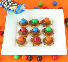 Rolo Pretzels with Pretzel M&M's on twopeasandtheirpod.com Love the sweet and salty combo!