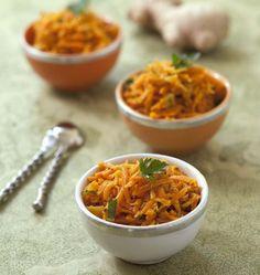 Carottes râpées cuites aux épices et moutarde - les meilleures recettes de cuisine d'Ôdélices