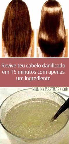 Revive teu cabelo danificado em 15 minutos com apenas um ingrediente.