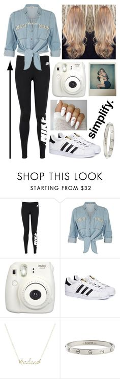 """Simplify."" by eliza-winstanley ❤ liked on Polyvore featuring NIKE, ZAK, Fujifilm, Polaroid, adidas and Cartier"