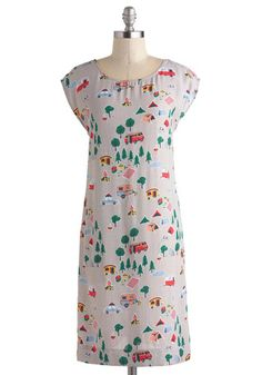 lol, this is something REI should carry. Totally would have been a dork and worn this T4k summer.  Camp Get Enough Dress, #ModCloth