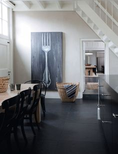 holland4 frenchbydesign blog  art: oversize utensil on chalkboard finish canvas