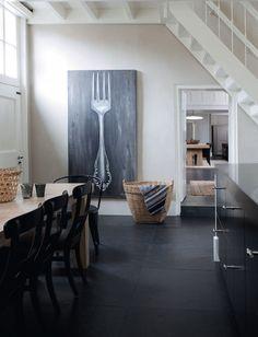 holland4 frenchbydesign blog  art: oversize utensil on chalkboard finish canvas