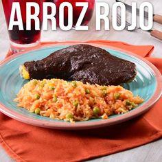 Veggie Recipes, Mexican Food Recipes, Cooking Recipes, Healthy Recipes, Rice Recipes, Arroz Rojo Recipe, Bien Tasty, Food Menu, Food Videos