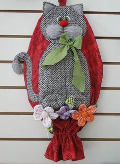 Fabric Arts and Crafts-Ideen Cat Crafts, Diy Crafts To Sell, Diy Crafts For Kids, Arts And Crafts, Sell Diy, Kids Diy, Decor Crafts, Fabric Art, Fabric Crafts