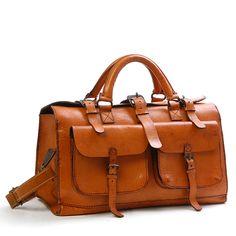 Sandast - Burbon Leather Bag (Natural) I want one My Bags, Purses And Bags, Sac Week End, Beautiful Bags, Leather Working, Travel Bags, Travel Backpack, Mens Fashion, Shoe Bag