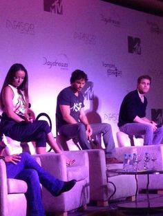 Kat Graham, Ian Somerhalder, and Paul Wesley at Day 2 for Vampire Attraction Con in Rio, Brazil (05/03/15)