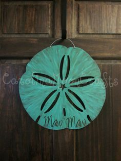 Sand Dollar Door Decor Sand Dollar Door by CarolinaMoonCrafts