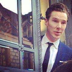 Benedict Cumberbatch in Poland. Beautiful.