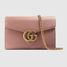 GG Marmont leather mini chain bag - Gucci 401232A7M0T6813