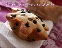 Recette - Mandise comme au McDo   750g Muffin Nutella, Pate A Muffins, Mini Tart, No Sugar Foods, Beignets, Mini Cakes, Diy Food, Nom Nom, Brunch