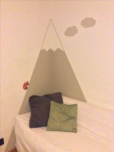Berge - Kinderzimmer - Wandmalerei - fjällen - mountains - barnens rum 🏔😃