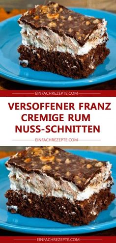 Versoffener Franz – cremige Rum-Nuss-Schnitten 😍 😍 😍 Dried Franz – creamy rum-nut-slices 😍 😍 😍 Related posts: Creamy cake pops with cheesecake The creamy nutty Snickers cake is the sweet highlight of the year! Food Cakes, Torte Au Chocolat, Easy Smoothie Recipes, Pumpkin Spice Cupcakes, Coconut Recipes, First Birthday Cakes, Fall Desserts, Ice Cream Recipes, Fondant Cakes