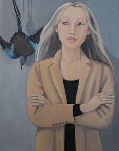 "92/73 ""Doux Oiseau de Jeunesse"" 2015 Oil on Canvas #artwork #art #paintingart #oiloncanvas #bird #artist #portrait #portraiture #figurativepainting #figurativepainter #contemporarypaintings #saatchiart #artfinder #artstack"