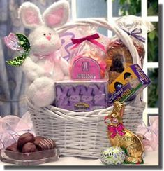 Its an easter celebration sweet treats gift basket easter gift somebunny special bunny and easter treats from arttowngifts negle