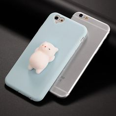 Case For Apple iPhone 7   iPhone 7 Plus DIY   Squishy Back Cover Cat   3D  Cartoon Soft Silicone for iPhone X   iPhone 8 Plus   iPhone 8 0f1f59eed7f