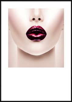 Face With Burgundy Lips Burgundy Lips, Septum Ring, Fashion Posters, Face, Jewelry, Poster, Jewlery, Jewerly, Schmuck