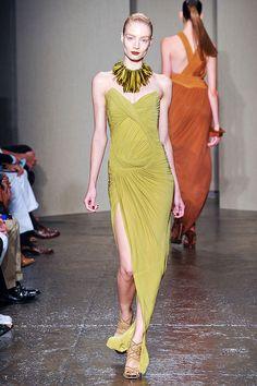 Donna Karan Spring 2012 RTW from Elle.com -- I need Nicole Kidman to wear this dress during award season.