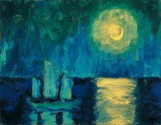 Emil Nolde, Moonlit Night, 1914, Albertina, Vienna - Batliner Collection
