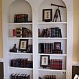 When we re-do the library, I want arched bookcases.