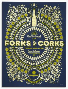 2013 Forks & Corks by Willoughby Design, via Behance