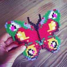 Butterfly perler beads (ironed) by trinewoeldiche