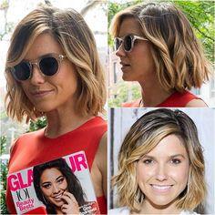 - Peinados y pelo 2017 para hombre y mujeres Hair Color Highlights, Hair Color Balayage, Hair Colour, Short Brown Hair, Short Hair Cuts, Love Hair, Great Hair, Flirt, Mode Style