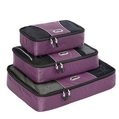 eBags Packing Cubes – 3pc Set (Eggplant)