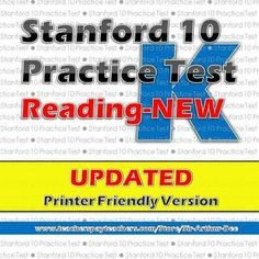 Here's another must-have for Kindergarten teachers. If you are one of them, you know how important it is to prepare your students for the upcoming Stanford 10 tests in spring. This Stanford 10 practice test in reading is a very helpful review material for your Kindergartners.