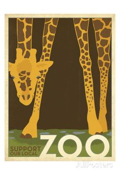 Zoo Giraffe Prints by Anderson Design Group at AllPosters.com