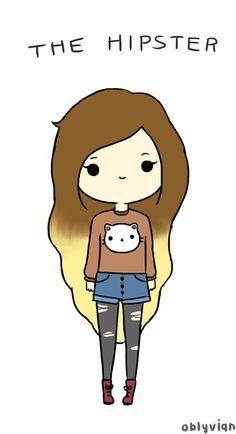 Resultado de imagem para tumblr desenhos menininhas meio kawaii
