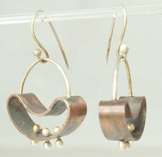 Shoply.com -Let it move 3 - Earrings - Mixed Metal, Sterling and Copper. Only $39.95