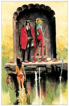 Casanova by Fabion Moon & Gabriel Ba. Fabio Moon, Superhero Sketches, Comic Frame, Vintage Illustration Art, Perspective Art, Bd Comics, Gabriel, Comic Book Artists, Comic Books