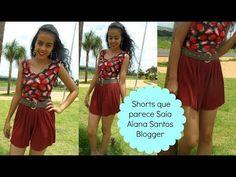Vamos costurar Shorts que parece Saia Alana Santos Blogger - YouTube