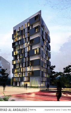 Riad Al-Andalous - Explore, Collect and Source architecture. Building Exterior, Building Facade, Building Design, Facade Architecture, Residential Architecture, Amazing Architecture, Residential Complex, Contemporary Stairs, Contemporary Architecture