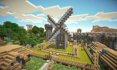 Minecraft Medieval village.