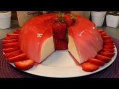 Εύκολο γλυκό ψυγείου φράουλα βανίλια με πολύ λίγα υλικά - Konstantina's kitchen - YouTube Cheese Mold, Cold Desserts, Party Buffet, Something Sweet, Cheesecakes, Kai, Panna Cotta, Pudding, Sweets