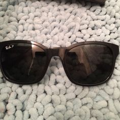 Authentic ray bans Like new! 4th picture shows a smudge on side Ray-Ban Accessories Sunglasses