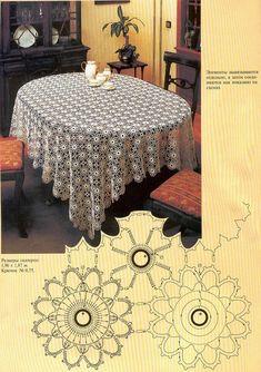 A large tablecloth round motivesKira crochet: Crocheted scheme no.Patterns and motifs: Crocheted motif no. Crochet Symbols, Crochet Motifs, Crochet Diagram, Crochet Doilies, Crochet Round, Crochet Home, Doily Patterns, Crochet Patterns, Large Tablecloths